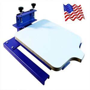 One Color Spinning T shirt Screen Printing Machine Two Directions Head Shaking