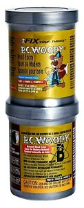 Pc woody Two part Wood Repair Epoxy Paste tan 12 Oz In Two Cans