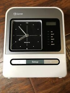 Comet Electronic Time Clock Punch Card Machine Employee Hours Recorder No Key