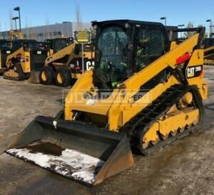 2016 Caterpillar 299d2 Cab Air Heat Track Skid Steer Loader Cat 299