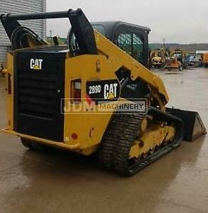 2018 Caterpillar 289d Cab Air Heat Track Skid Steer Loader Cat 289