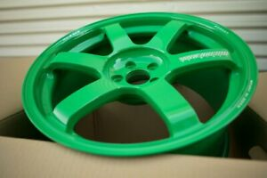 Volk Te37 Saga 18x9 5 43 5x100 Takata Green Brand New Forged For Frs Brz Gt86