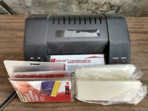 Universal Small Desktop Laminator For Photo Id business Cards W Pouches
