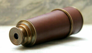 18 Inch Brass Nautical Spyglass Vintage Leather Pirate Antique Telescope Gift