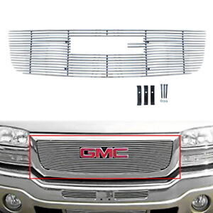 For 2003 2006 Gmc Sierra 1500 2500hd 3500 Main Upper Billet Grille Insert