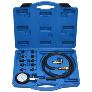 Auto Engine Oil Pressure Tester Tool Kits Low Oil Warning Devices Car Garage Set