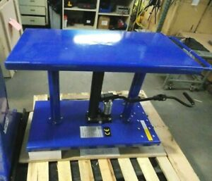 Worksmart Hydraulic Lift Table 1000 Lb Cap 30 To 47 1 2 H Ws mh lftb1 110