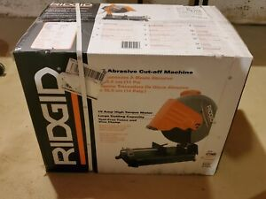 Ridgid 14 Abrasive Cut off Chop Saw R4142 New In Box