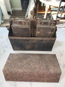 X2 Antique Ford Model T Or Model A Wood Battery Box Ignition Coil And Box