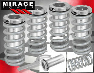 93 97 Del Sol Scale 1 3 Height Adjustable Lowering Silver Coilover Sleeves