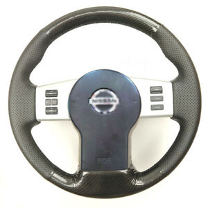 Carbon Fiber pu Leather Steering Wheel Stitch On Wrap Cover For Nissan Frontier