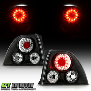 For Black 1994 1995 Honda Accord 2 4dr Led Tail Lights Lamps Left Right