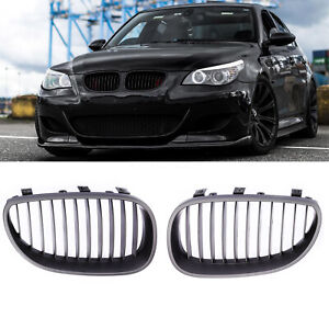 Matte Black Front Hood Kidney Grille Grill For Bmw E60 E61 5 Series M5 03 10