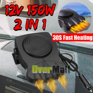 Car Heater Fan 30s Fast Heating Portable Heating Cooling Demister Defroster