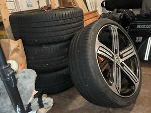 Vw Oem 19 Cadiz Wheels With Continental Contisport Tires Excellent Condition