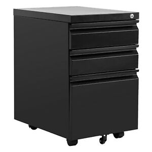 Metal File Cabinet With Wheels 3 Drawer File Cabinet Filling Cabinet Mobile