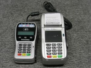 First Data Fd130 Duo Credit Card Terminal fd 35 Pin Pad tested Working