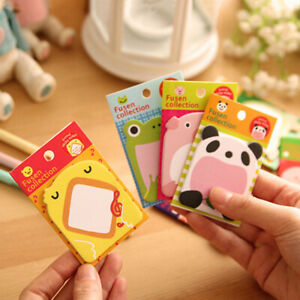 Sticky Notes Korean Style Stationery Cute Happy Zoo Notes Hot Pad Creat 2021