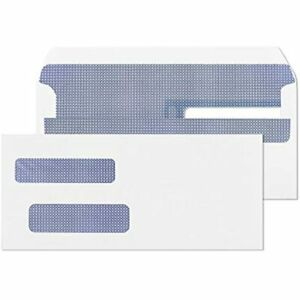 Endoc 10 Double Window Envelopes Self Seal Flip And Security Tinted Envelopes