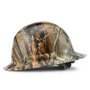Full Brim Pyramex Hard Hat Custom Woodsman Camo White Hat Camo Design Safety