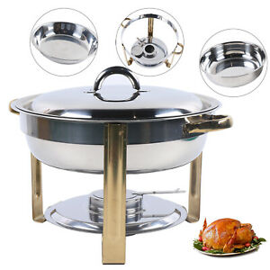 Stainless Steel Container 4l Chafing Dish Catering Buffet Food Warmer Insulation