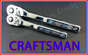 Craftsman Tools 2pc 3 8 1 2 Full Polish 72 Tooth Ratchet Socket Wrench Set