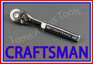 Craftsman Tools 1 4 Full Polish 72 Tooth Quick Release Ratchet Socket Wrench