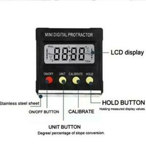 Cube Inclinometer Angle Gauge Meter Digital Lcd Protractor Boxelectr Level P6a7