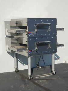 2017 Middleby Marshall Ps536g Double Deck Conveyor Pizza Oven belt Width 20