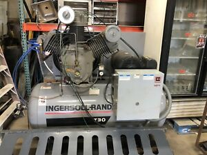Ingersoll Rand Model T 30 2 stage Lubricated Air Compressor 30 Horsepower