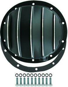 Chevy Truck Car 10 Bolt Black Finned Aluminum Differential Cover 8 2 8 5