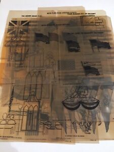 Vintage 1966 Overhead Transparencies By 3m Company 22 Flags Civics Class