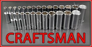Craftsman Hand Tools 26pc Deep 3 8 Sae Metric Mm 6pt Ratchet Wrench Socket Set
