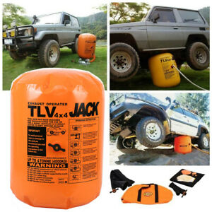 Exhaust Pump Dual Inflatable Air Jack 4 Tonne Car Truck Suv Off Road Rescue Kit