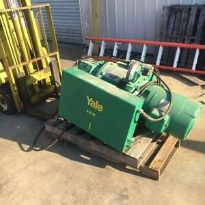 Yale Cable King Electric Hoist 5 Ton Model 1001cm Motorized Trolley 20 10 Fpm
