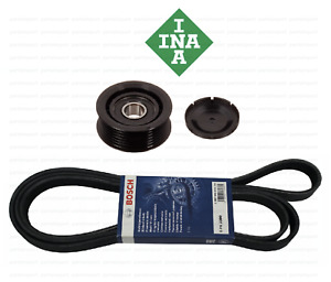 Serpentine Drive Belt Kit With Idler Pulley Bosch Ina Oem For Mercedes Benz