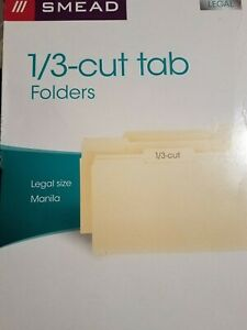 Smead File Folder 1 3 cut Tab Legal Size Manila 12 Folders 4 Of Each Tab