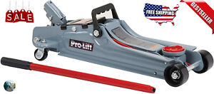 Low Profile Floor Jack 2 Ton Lift Aluminum Steel Auto Car Rapid Lifting 4000lbs