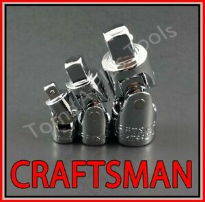 Craftsman Tools 3pc 1 4 3 8 1 2 Ratchet Wrench Universal Wobble Flex Socket Set