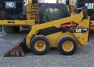 2015 Caterpillar 242d Cab Heat Skid Steer Wheel Loader Tire Machine Cat 242