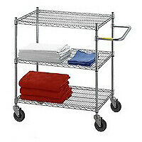 R b Wire Uc2448 24 X 48 X 42 Utility linen Cart With Three Wire Shelves
