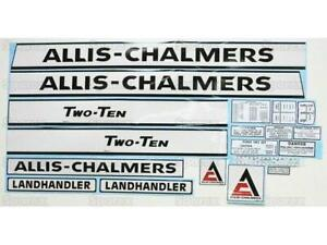 Complete Decal Set For Allis Chalmers 210 Fits Allis Chalmers 210