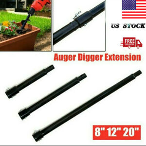 Extension Auger 20 12 8 Long 3 4 Shaft Gas Post Hole For Digger Earth Us