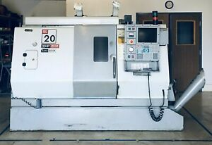 Haas Sl20 Cnc Lathe 20hp Year 2000 2 Center