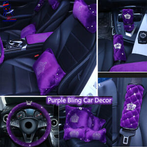 New Universal Nobel Purple Car Accessories Sparkle Auto Seat Cover Cushion Front