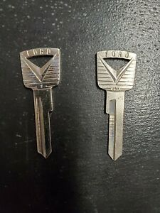 Vintage Ford Uncut Key Blank Ignition 1950 S Lot Of 2