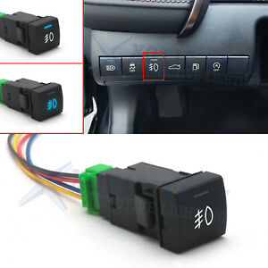 Fog Lights Push Button Switch Led Indicator Light Replacement For Toyota Camry
