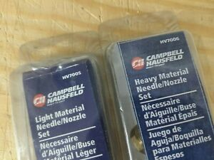 Lot Of 3 Campbell Hausfeld Paint Sprayer Nozzles Nv7005 Nv7006