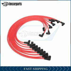 9pcs Spark Plug Ignition Wires 73686 For Chevrolet Engines Sbc Bbc Universal