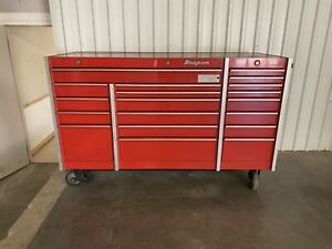 Snap On Snapon Snap on Krl1003 Tool Cabinet Red Used Triple Bank 3 Lock System